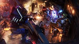 Картинка Mass Effect Сражения Воины Доспехи Фэнтези