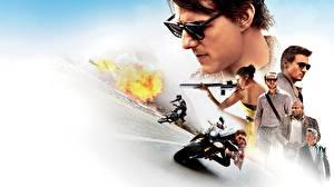 Картинка Миссия невыполнима Tom Cruise Мужчины Очки Rogue Nation Кино