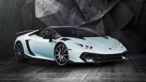 Обои Lamborghini Белый Дорогие Huracan Mansory Torofeo Машины
