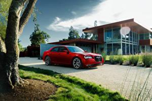 Фотографии Chrysler Дома Дороги Красных Металлик Дорогие 2015 300 S