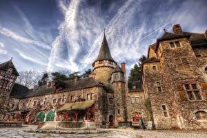Картинка Румыния Замки HDRI Corvin Castle Города