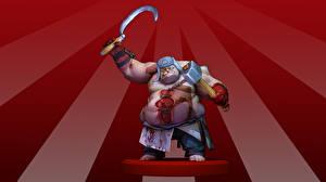 Картинка DOTA 2 Пудж Монстры Серп и молот Игры Фэнтези