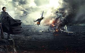 Картинки Солдаты Самолеты Корабли Плащ Снайперы Battle for Sevastopol 2015 Кино Девушки Армия