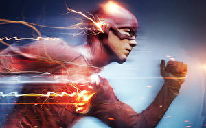 Картинки Герои комиксов Флэш телесериал 2014 Флэш герои Barry Allen Фильмы