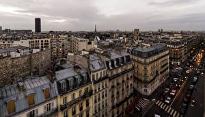 Обои Франция Здания Дороги Париж Улица Города