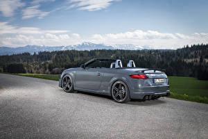 Обои Ауди Серая Кабриолет Металлик 2015 Audi TT roadster (Abt) авто