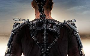 Обои Matt Damon Мужчины Спины Elysium 2013 кино Знаменитости
