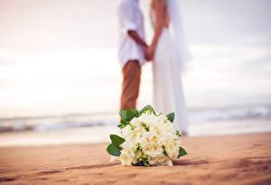 Обои Букеты Свадьба Пляж Цветы
