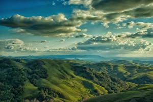 Обои Холмы Природа