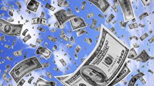 Обои Доллары Купюры Деньги фото