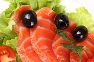 Картинки Морепродукты Рыба Овощи