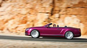 Картинки Bentley Кабриолета Сбоку авто