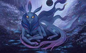 Картинки DOTA 2 Puck Сверхъестественные существа Игры Фэнтези