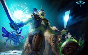 Обои DOTA 2 Alchemist Puck Монстры Воители Магия IO Guardian Wisp Chen Игры Фэнтези фото
