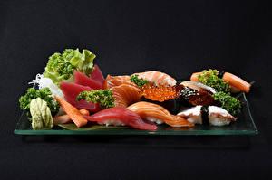 Картинка Морепродукты Рыба Икра Суши