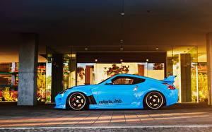 Фотография Nissan Голубой Сбоку 370z машины