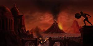 Фото Катастрофы Вулкан Empires decay Фантастика