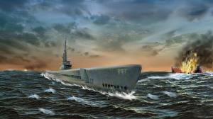 Фото Подводные лодки Рисованные USS Bowfin Submarine