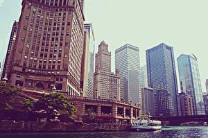 Фото США Небоскребы Чикаго город Города