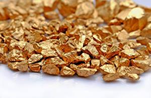 Фотография Золото Вблизи Золотая gold metal mineral table white
