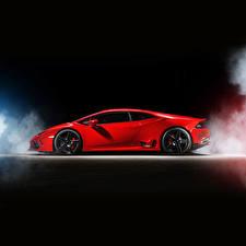 Фотографии Lamborghini Красный Сбоку Роскошные 2015 Ares Design Huracan LB724 Автомобили