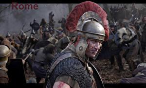 Обои для рабочего стола Рими Сен Воители Мужчины В шлеме Rome кино Армия