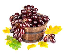 Обои Фрукты Виноград Листва Еда