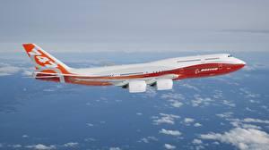 Обои Самолеты Пассажирские Самолеты Полет BOEING 747-800 Авиация Авиация фото