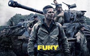 Фото Brad Pitt Мужчина Танк M4 Шерман Fury, 2014 кино