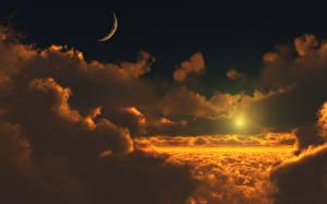 Обои Небо Рассветы и закаты Облака Природа
