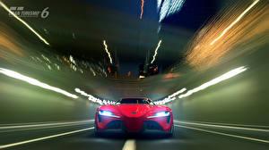 Картинки Toyota Gran Turismo Спереди Едущая 6 FT-1 Автомобили