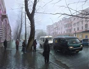 Картинка Рисованные Дороги Россия Улица Irkutsk Города