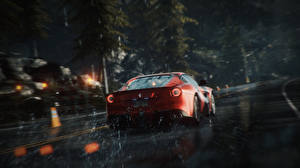 Обои Need for Speed Ferrari Дождь Сзади Rivals (2013) Игры Автомобили