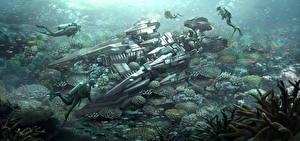 Фотография Подводный мир Техника Фэнтези Дайвинг Фантастика