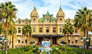Фото Монако Ландшафтный дизайн Здания Фонтаны Монте-Карло Пальм Казино город