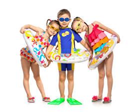 Фотография Трое 3 Мальчики Девочки Очков ребёнок