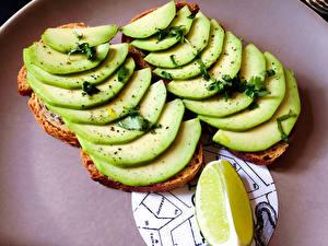 Фото Овощи Бутерброды Продукты питания