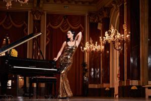 Фотография Katy Perry Фортепиано Forbes 2015 Знаменитости Девушки