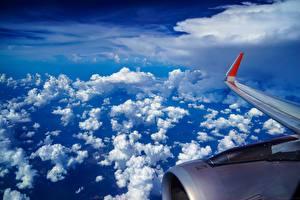 Обои Самолеты Небо Облака Авиация Природа фото