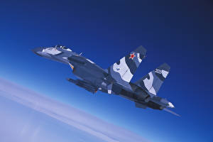 Картинки Истребители Самолеты Су-27