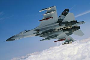 Фотографии Истребители Самолеты Су-27