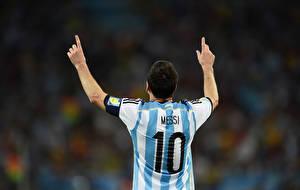 Фото Футбол Мужчины Lionel Messi World Cup 2014 FC Barcelona спортивный Знаменитости