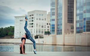 Обои Гимнастика Ноги Melanie Coer Девушки фото