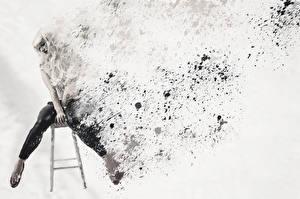 Фотография Рисованные Абстракции Девушки