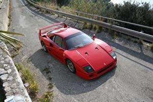 Картинка Ferrari Дороги Красный Дорогие F40 Машины