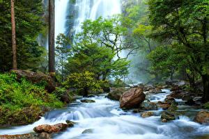Фотографии Таиланд Водопады Khlong Lan Природа