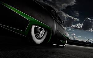Картинки Ретро Колесо Mercury Автомобили