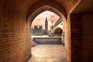 Картинка Великобритания Англия Мосты Лондон Биг-Бен