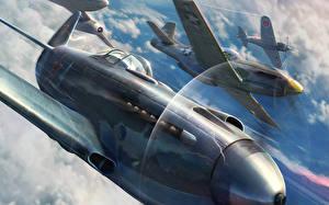 Картинки World of Warplanes Истребители Самолеты Wargaming Net WoWP Авиация