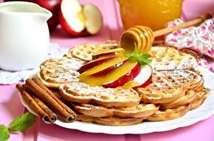 Обои Сладости Корица Мед Печенье Waffle